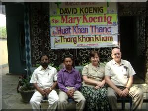 Rev. David, Sister Mary and Rev. Kham